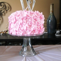 "Blossom Baby Shower Cake This a baby shower cake that I did for my sister. The 6 inch ""cake"" is made out of Rice Krispies because she really likes them. I..."