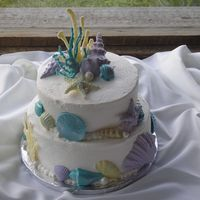 Seashell Wedding Cake I made this cake for my brother-in-law for their wedding july 5, 2008. I was 9 months pregnant and gave birth on July 10, 2008. Thank god...