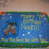 Yoda Cake here is a double layer 1/2 sheet. FBCT yoda, marble cake.
