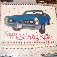 Pontiac 1966 Gto This is a picture that I stenciled on a cake for my husband. It is identical to the car that he has rebuilt from the bottom. It was time...