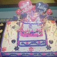 Sweet 18 This is a cake that I did for a dear friend of mine for her 18th birthday. It was made out of buttercream frosting with white chocolate...