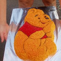 Winnie The Pooh Here is a picture of another cake that I did for my daughter's 3rd birthday. I used the buttercream frosting and the Wilton Winnie the...