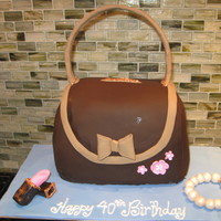 Purse Cake With Bracelet And Lipstick