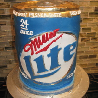 Miller Lite Beer Can Cake