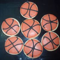 Basketball Cookies NFSC WITH ROYAL ICING