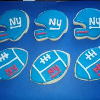 Ny Giants Cookies NFSC WITH ROYAL ICING