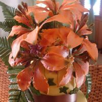 Closeup Of Tiger Lilies Here is a closeup of the cake topper