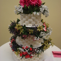 Basketweave Wedding Cake I made this cake for the local 2010 NIFCA Culinary Arts Competition (in Barbados). The idea came from one of the Wilton Wedding Cake books...