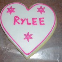 Valentine's Day Cookie Up close of personalized cookie MMF and RI
