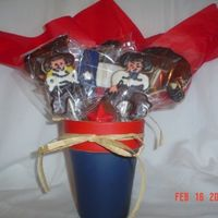 """texan"" Cookie Bouquet This was donated to a local elementary school, they are the Texans, so I did a Texas theme. Cookies are are Penny's Cookies of Penny&#..."