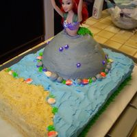 Ariel Wonder Mold Cake My daughter loves Ariel, so we chose a Disney Ariel doll with the Wonder Mold pan on a 11x15 sheet cake. We have her fin down the back of...