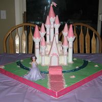 Princess Party I used the Wilton castle kit to make a castle for my girls birthday. I made a large base and used fondant to make the grass and hundreds of...