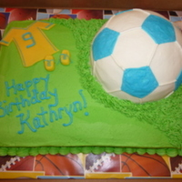 Soccer Cake My daughter has played soccer since she was 4 1/2 so it was only a matter of time before she chose soccer as her birthday theme.