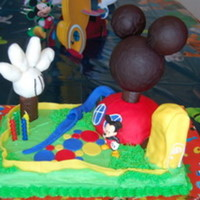 Mickey Mouse Clubhouse My son's 4th birthday cake. This was my first time experimenting with fondant.