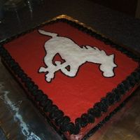 Calgary Stampeders!! This is the cake I made for our Grey Cup party in Nov. of 2008. It makes it that much better that the Stampeders won!