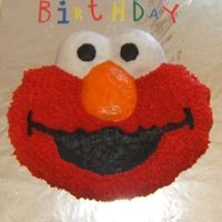 Elmo Birthday Cake This is my son's 2nd birthday cake. Iced with Wilton premade icing.