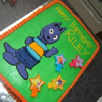 Backyardigans (Austin) This caked was done for my son's third birthday. We were a little rushed and Austin's coloring turned out a lot more purple than...