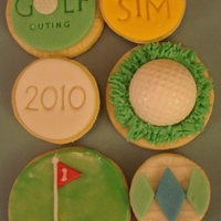 Golf Cookies These were made for appreciation gifts associated with an event at my son's school. Inspired by (and not nearly as good as!)...