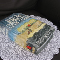 Book Cake First time making a book cake and first time painting....