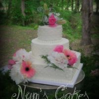 A Peony Wedding WASC with buttercream