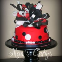 Red And Black Girl is a GA fan so requested this cake for her last weekend out.....
