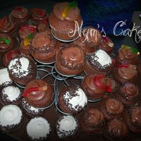 Dirty Cupcakes mixed cupcakes to go with fishing cake....