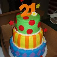 21St Birthday I saw one similar to this on the site and got my inspiration from there. This was for several of my sister-in-laws sorority sisters who...