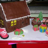 Santa Clause's Home   Chocolate cake with fondant.