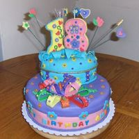 My First Fondant Birthday Cake Made for my granddaughter's 18th birthday
