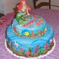 Ariel's Cake Another Ariel's cake for my granddaughter's 7th b'day. My version of Ariel ended a little chunkierbut she liked it and that...