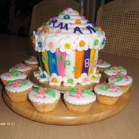 Giant Cupcake I used the Wilton Giant Cupcake pan for my granddaughter's birthday cake, it was not easy to bake it but for being the first time, it...