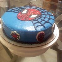 Spiderman_Cake2.jpg Yellow Cake with Buttercream Icing.