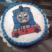 Thomas The Train This is a cake I made for my friend's 4 year old son's birthday.