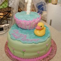 Baby Shower Cake I made this cake last minute, as I didn't think I'd have enough time to do my original idea. It took about 8 hrs. Margie's...