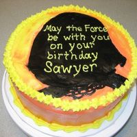 Star Wars Birthday Cake For 5 Yo Darth Vader is my first attempt at FBCT.