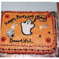 Booo-Tiful Birthday cake for my sister. Her birthday is 3 days before Halloween and she always wanted a halloween themed cake, so the year I started...