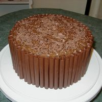 Chocolate Cigarellos This is my first cigarello cake. They're completely homemade, as you can probably tell. German chocolate cake with coconut/pecan...