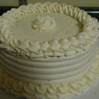 Cinnamon Vanilla Kahlua Cake Cinnamon Vanilla Kahlua Cake. Cinnamon, Vanilla, Kahlua buttercream filling. Vanilla Buttercream frosting. 1M tip used to make border....