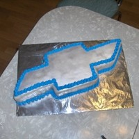Chevy Bow Made with fondant and buttercream border. Super simple!
