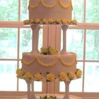 Wedding Cake With Yellow Fondant Roses