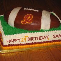 Redskin's Birthday Cake
