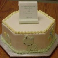 Froggy Tales Baby Shower Cake