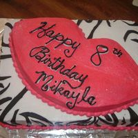 Zebra And Lips  Couldn't find anything Bratz for a cake so this is what i came up with. Butter cream icing, zebra stripes made out of fondant. I used...