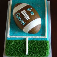 Football Goal Buttercream football goal cake.