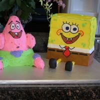 Spongebob And Patrick Thank goodness this cake was for my son b/c my other son decided to eat the nose that I left on the counter...