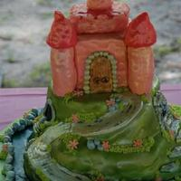 Castle Cake Made for my daughters 5th Birthday. MMF and airbrushed