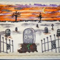 Over The Hill Graveyard Cake