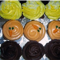 Cupcakes Client asked for mini cupcakes with chocolate buttercream, carrot cake with cream cheese frosting and vanilla with vanilla buttercream. I...