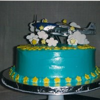 Airplane Cake Second cake ever. Client gave me the airplane as she wanted it as a cake topper for her son's birthday. Cream cheese frosting with...