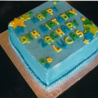 Blue Cake This is my first attempt at sharp edges... obviously I still need to work a LOT on this!! I cut the letters with molds and I really don&#...